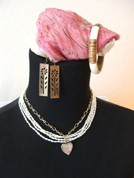 Bohemian Jewelry Group Necklace Bracelet Earrings