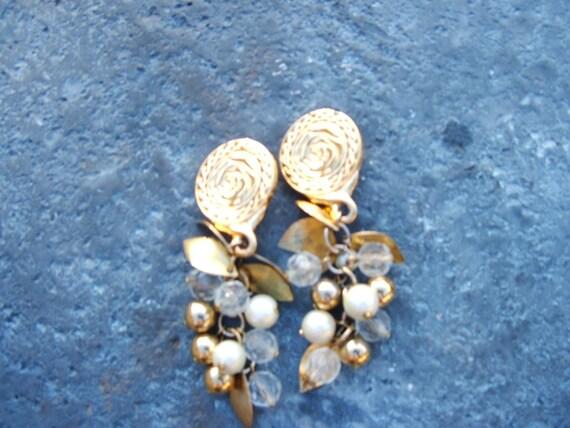 Earrings Liz Clairborne Vintage Dangle Hippie Gypster Boho Coachella