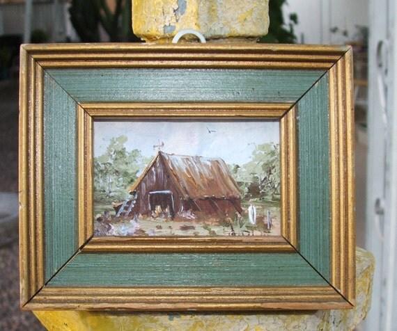 Tiny Vintage Painting