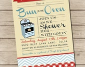 PRINTABLE - Bun in the Oven - Baby Shower Invitation - Digital