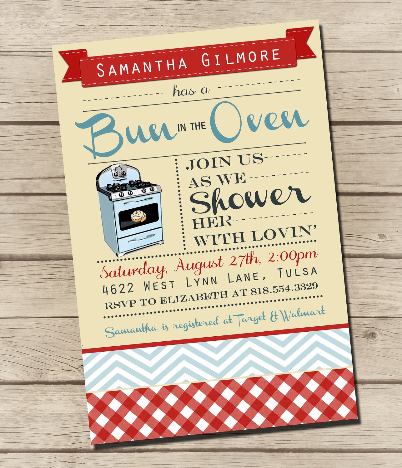 items similar to printable bun in the oven baby shower invitation