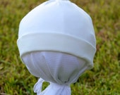 Organic Baby Knot Hat, Unbleached White