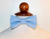Blue Dots Child Bow Tie with Velcro closures, fits 6mo-5T