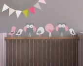Nursery Wall Decal. Birds and Owls Children Wall Decal