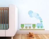 Modern Train Children Wall Decal - Wall Art Sticker for Nursery or Kids Room