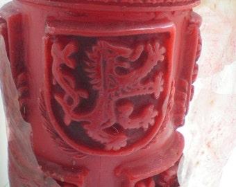 Vintage Japanese Kameyama Heraldry Candle