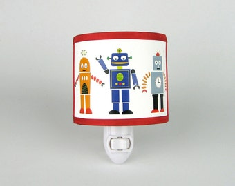 Robot Nightlight Red
