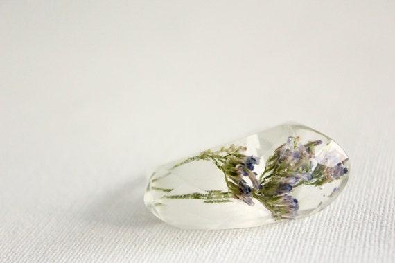 sea lavender (limonium) asymmetrical multifaceted eco resin ring