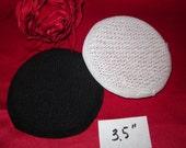 "1 Round buckram hat frame, black or white 3.5"""