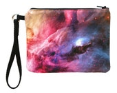 Cotton Wristlet featuring Custom Print of the Orion Nebula