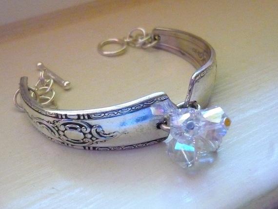 Crystal Cluster Fork Bracelet
