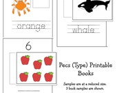 FEATURED ITEM -  Printable PECS Little Books - Shapes, Colors, Numbers, Alphabet -  Autism or Special Needs
