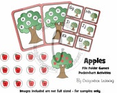 Apple Theme File Folder Games & Activities -  Download - K-2nd Grade