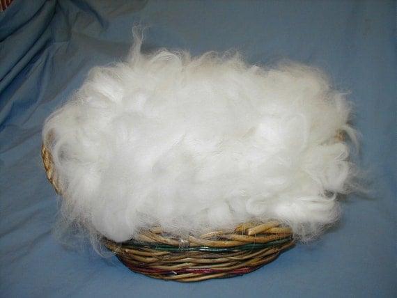 FABULOUS White German Angora Rabbit Wool Spinning Felting fiber spin a cloud