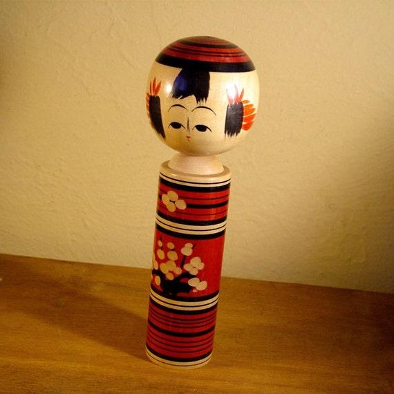 Yajirio Kokeshi Traditional Japanese Doll