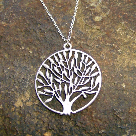Silver Round Tree Necklace