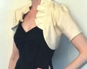 Organic Cotton Bolero with Romantic Ruffle Collar
