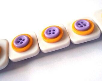 Button Magnets - White Yellow Purple Lakers Vikings for Refrigerator, Locker, Memo Board, Filing Cabinet - Stocking Stuffer