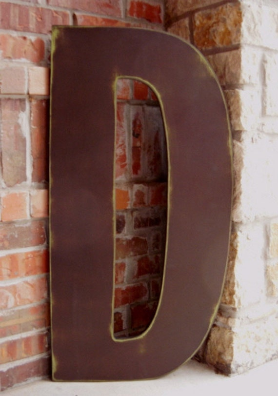 Items similar to distressed 3 foot tall wood letter d for 3 foot tall letters