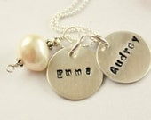 Sterling Mommy Necklace - Mothers Necklace - Push Present - Mommy Necklace- Brag Necklace - Mothers Day - New Mom Gift -Grandmother