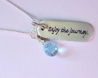 Enjoy The Journey NEcklace , Graduation Gift , Inspirational Necklace -Personalized High School Graduation Gift, Inspirational jewelry
