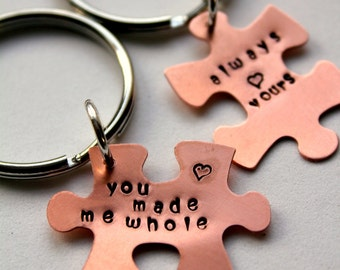 puzzle piece keychain valentines for him puzzle piece keychain gift for boyfriend