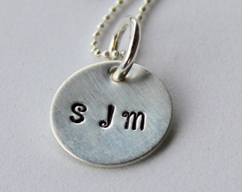 Initial Necklace - Custom Necklace - Graduation Gift  Mother Children Charm, Hand Stamped, Her Gift,  Mothers Day Necklace, Initial Jewelry