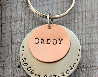 Dad Gift- Keychain -  Gift For Dad - Personalized Dad Christmas Gift  - Personalized Father's Day Gift - Grandpa - New Dad - Gift For Him,