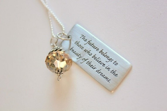Graduation Gift for her,  Graduation Necklace, Graduation Gifts for Her, High school grad, College Graduation Jewelry, Inspirational,  Dream
