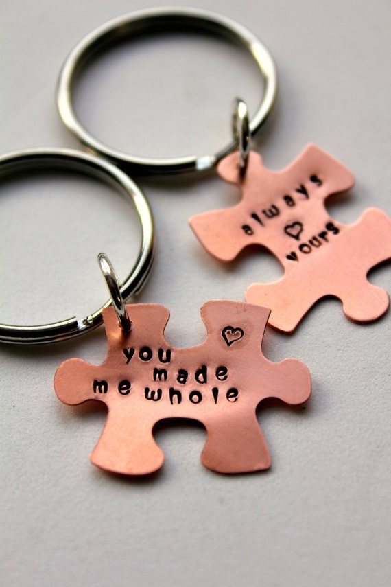 Valentines For Him, Puzzle Piece Keychain,  Gift For Boyfriend , Romantic Valentine, Valentines Day Gift, Sexy Valentines