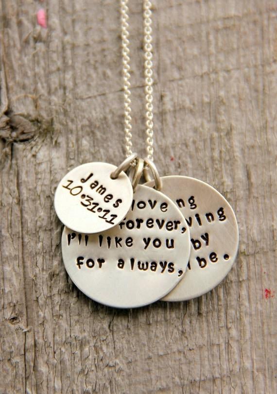 As Long As I'm Living Ncklace, New Mom, New Mother,Mom Name Birthday Family Child Quote Baby Birthday, Baby Name Necklace, Gift From Husband