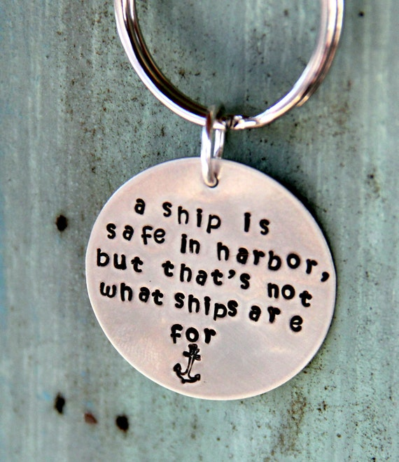 Nautical Sailing Key Chain, Sailing Quotes, Boating Sailing, Fathers Day, Marine, Blue Beach Key Chain, Custom Key Chain, Sailing