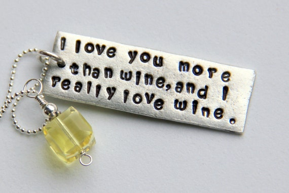 I Love You More Than Funny Quotes For Friends : Bridal Party, Gag gifts for Friends, I love you More Than Wine Quote ...