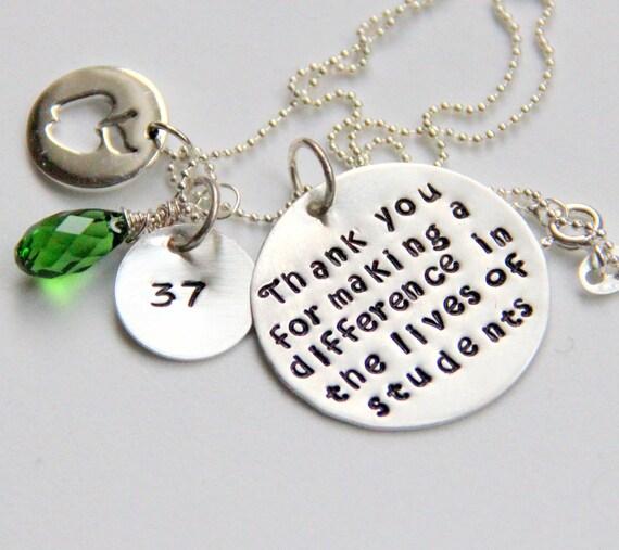 Personalized Teacher Gift, Gift For Teacher, Retirement Gift, Teacher Retirement Gift, Teacher Necklace, Apple, Retirement,