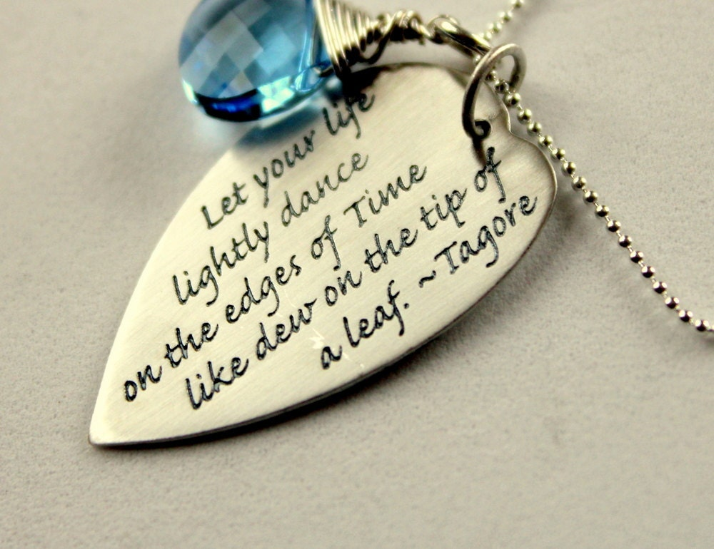 Special Graduation Gifts From Mother To Daughter : Custom Inspirational Necklace Graduation Gift Tagore Quote