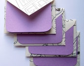 SALE - Coloring Pages Stationery - Set of 4 - Perfectly Purple - SALE