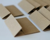 KRAFT Mini Envelopes - Set of 100 - Recycled Kraft Paper