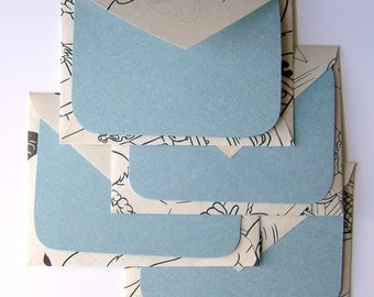 SALE - Coloring Pages Stationery - Set of 4 - Blue Mood - SALE