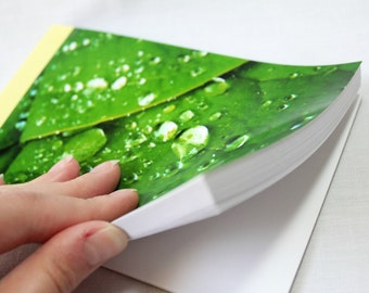 Notebook/Sketchbook/Journal - 4x6 - Dew Drops - Original Photograph