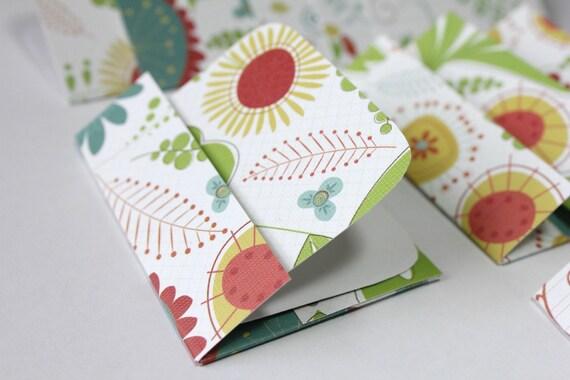 Mini Cards n Envelopes - Set of 8 - Recycled Paper - Wonderful World