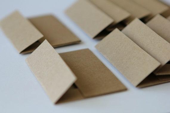 Custom Order - Mini Envelopes - Set of 100 - Recycled Kraft Paper