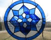 Kaleidoscope in Cobalt Suncatcher