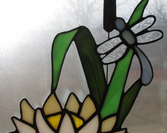 Dragonfly & Water Lily Suncatcher