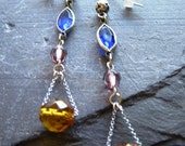 HANDMADE IN ENGLAND, 20s Flapper Vibe, Chandelier, Glass Bead Earrings, by Holly Daise on Etsy