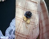 Black Rose and Gold Thorn Pin Reserved for Barboro