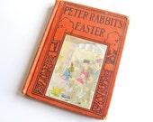 Peter Rabbit's Easter, vintage children's book, Wee Folks series, 1935 Platt & Munk edition of 1921 Altemus book, art nouveau