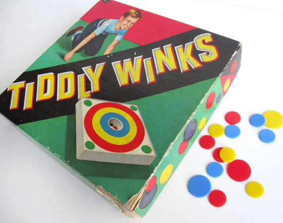 Tiddly Winks game, Whitman Bulls Eye Tiddly Winks, early 1960s children's board game