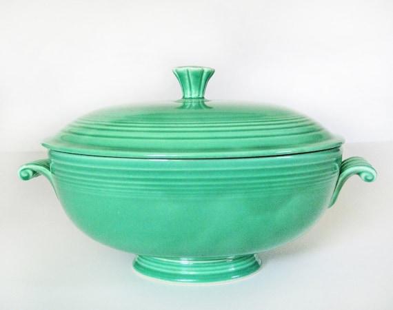 Fiesta Ware Casserole Dish In Original Green By Modernpoetry