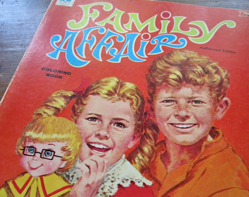 Family Affair television show coloring book vintage 1968