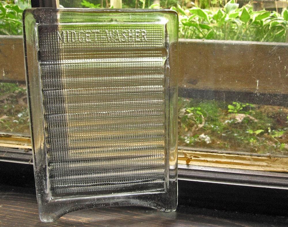 Midget Washer Glass Washboard Vintage 1900s